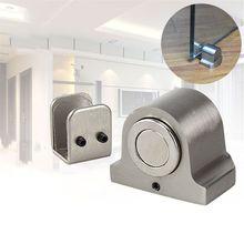 For Glass Doors Door Stop Casting Powerful Floor-mounted Magnetic Door Stopper