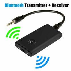 2 в 1 беспроводной Bluetooth 5,0 передатчик приемник заряжаемый для ТВ ПК автомобильный динамик 3,5 мм AUX Hifi музыкальный аудио адаптер