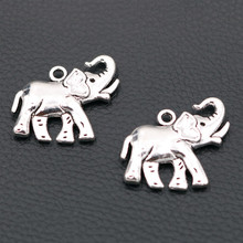 WKOUD 3pcs Antique Silver Elephant Metal Pendant DIY Necklace Keychain Manual Jewelry Findings 32*30mm A785