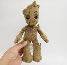 цена на 20cm Tree Man Groot plush toy soft stuffed Doll Toy Guardians of the Galax Boy Gift
