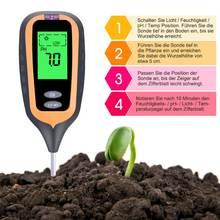 Цифровой измеритель влажности почвы 4 в 1 ph метр тестер температуры