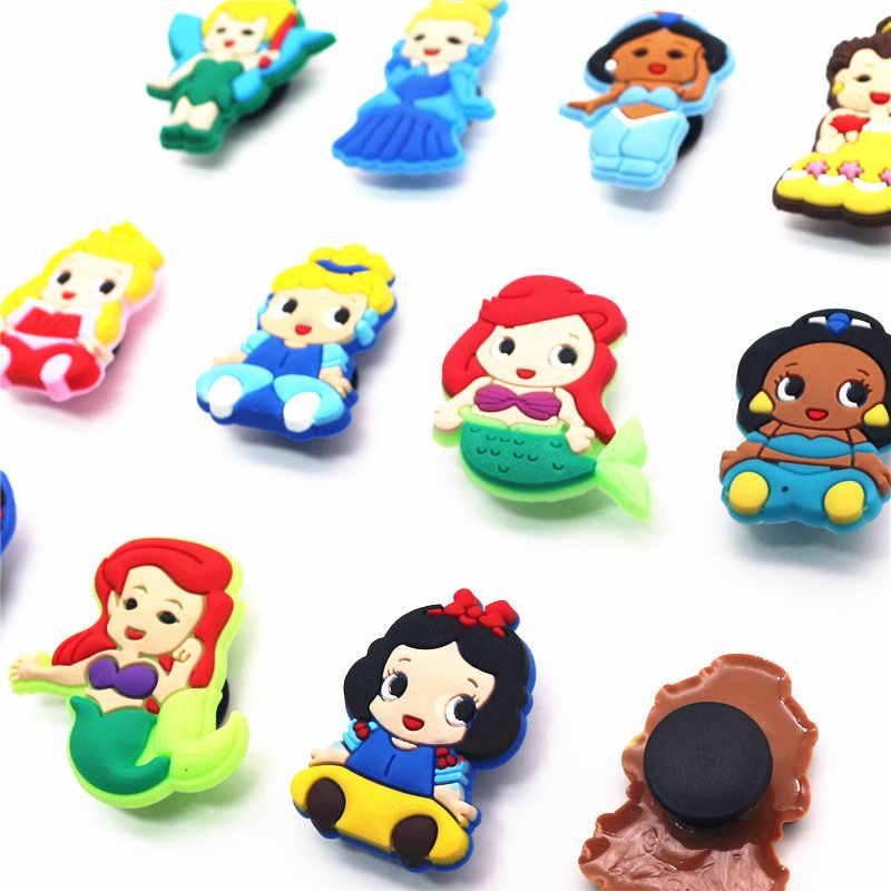 Solo venta 1 piezas PVC zapato encantos de dibujos animados de la serie jardín zapatos de hebilla Decoración Para croc pulsera jibz fiesta de niños x-mas