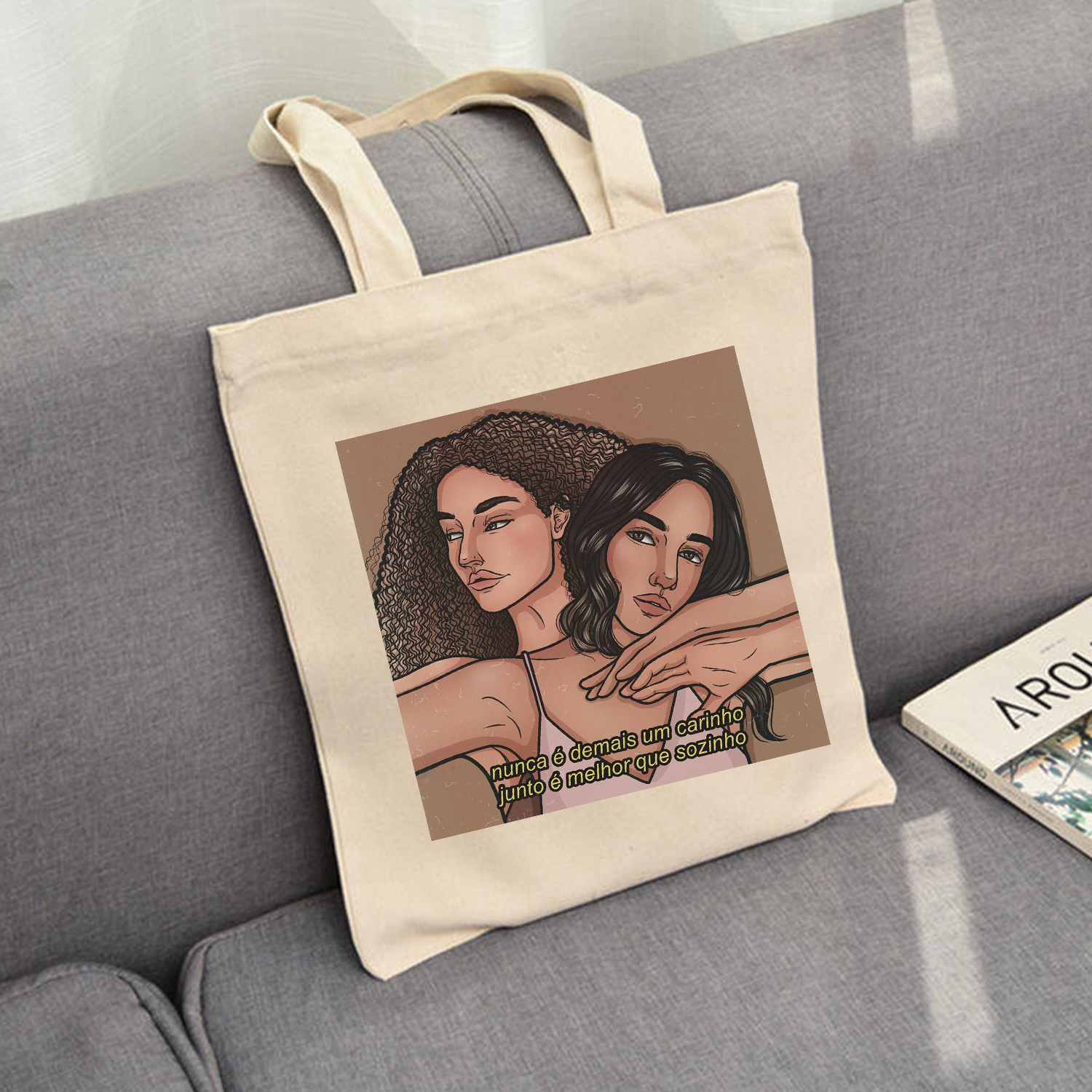 Top Tote Bag For Women Foldable Shopping Bags Ladies Black Girls African Magic Canvas Reusable Women Bags Cotton Bags For Gifts