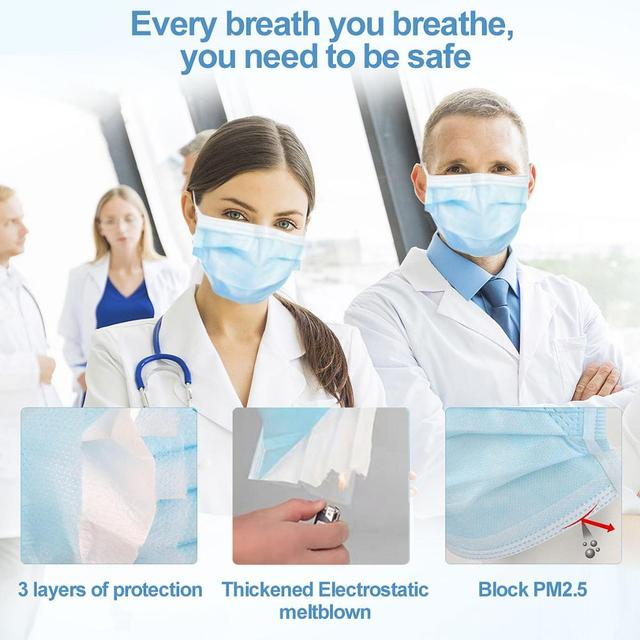 Mask mouth Disposable face mask 3-layer mask respirator mask pollution masque masks  for anti flu face mask virus protection 3