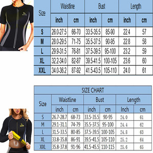 Image 5 - LAZAWG  Hot Sweat Weight Loss Shirt Neoprene Body Shaper Sauna Jacket Suit Workout Training Clothes Fat Burner Top Full Zip Up