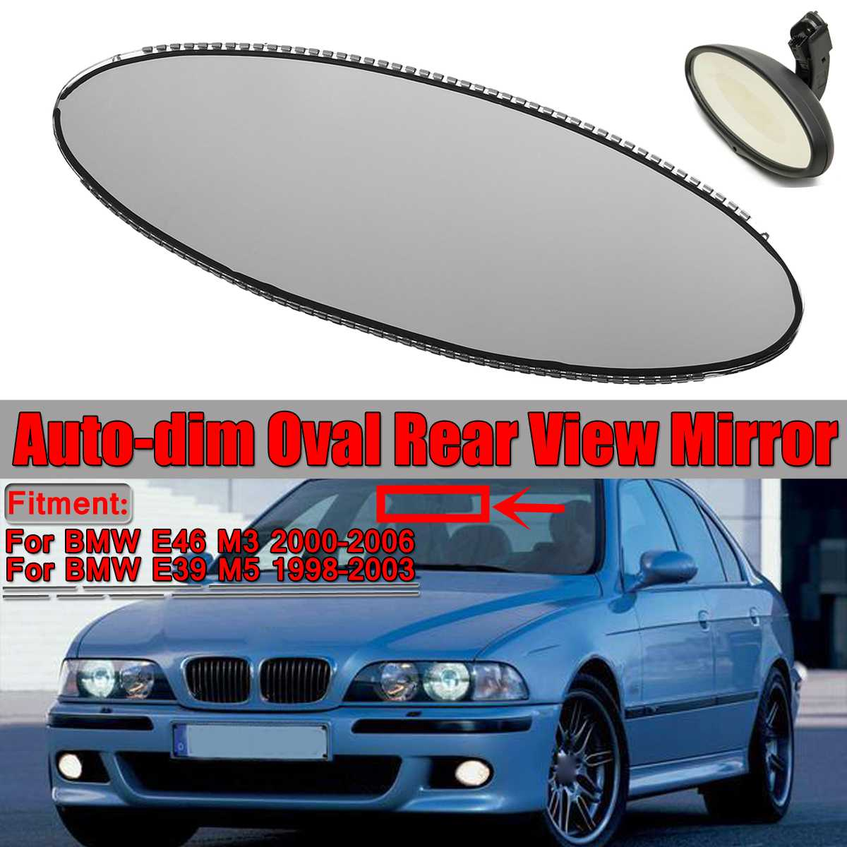 BMW E46 M3 /& E39 M5 Oval Rear View Mirror Auto-Dimming Glass Cell REPAIR SERVICE