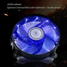 Computer CPU Cooler Fan Radiator Silent Mute Air Cooling Fan Quite Cooler цена и фото