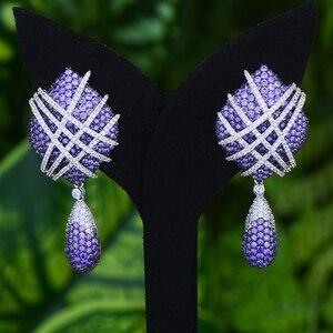 Image 5 - GODKI Famous 2019 Charms Waterdrop Trendy Women Earrings Cubic Zircon Drop Earring For Women Wedding Party Accessories