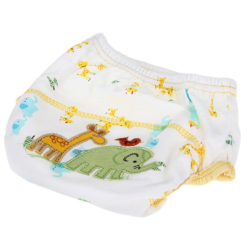Diaper Training Pants Washable Waterproof Cotton Elephant Pattern For Bebe