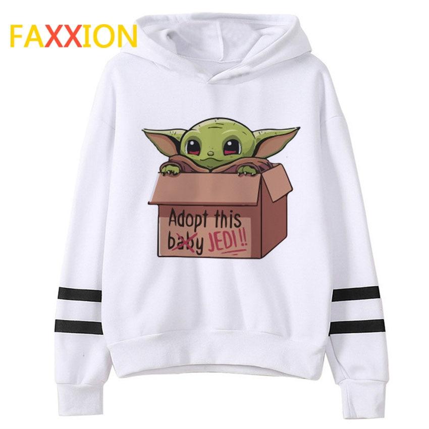 Baby Yoda Mandalorian Hoodie Men/Women Star Wars Sweatshirt Male/female Funny Print Ullzang Hoody Harajuku