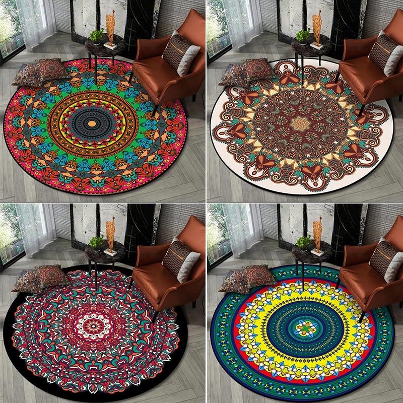 Circular Round Faux Fur Area Rug Sofa Chair Mat Cushion Balcony Floor Carpet Rug