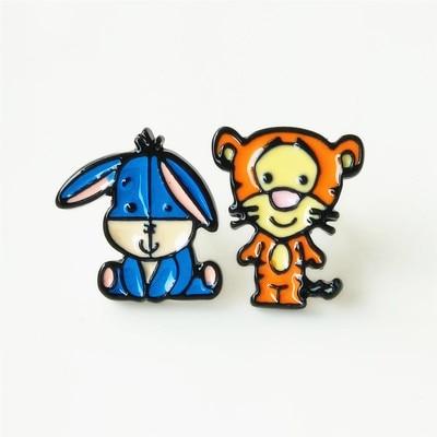 Details about  /Winnie the Pooh Eeyore Piglet Book Lovers Handmade Resin Dangling Earrings 16mm
