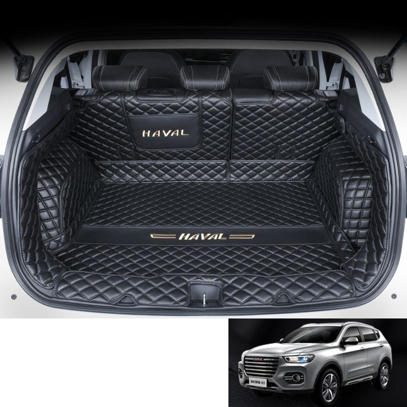 Lsrtw2017 For Great Wall Haval H6 Leather Car Trunk Mat Cargo Liner 2018 2019 2020 Accessories Cover Boot Interior