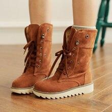 Женские ботинки в европейском стиле; Зимние на меху; Ботильоны