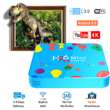 H96 MINI Android 9.0 Set top box 4GB RAM 128GB ROM TV Box Allwinner H6 Quad Core 6K H.265 Wifi HD Google Speler Media Player minix neo x6 quad core android 4 4 2 google tv player w 1gb ram 8gb rom xbmc h 265 au plug