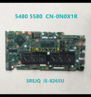 high quality  FOR DELL 5480 5580 Laptop motherboard CN-0N0X1R 0N0X1R N0X1R 17859-1 with SREJQ I5-8265U CPU 100% working well 1