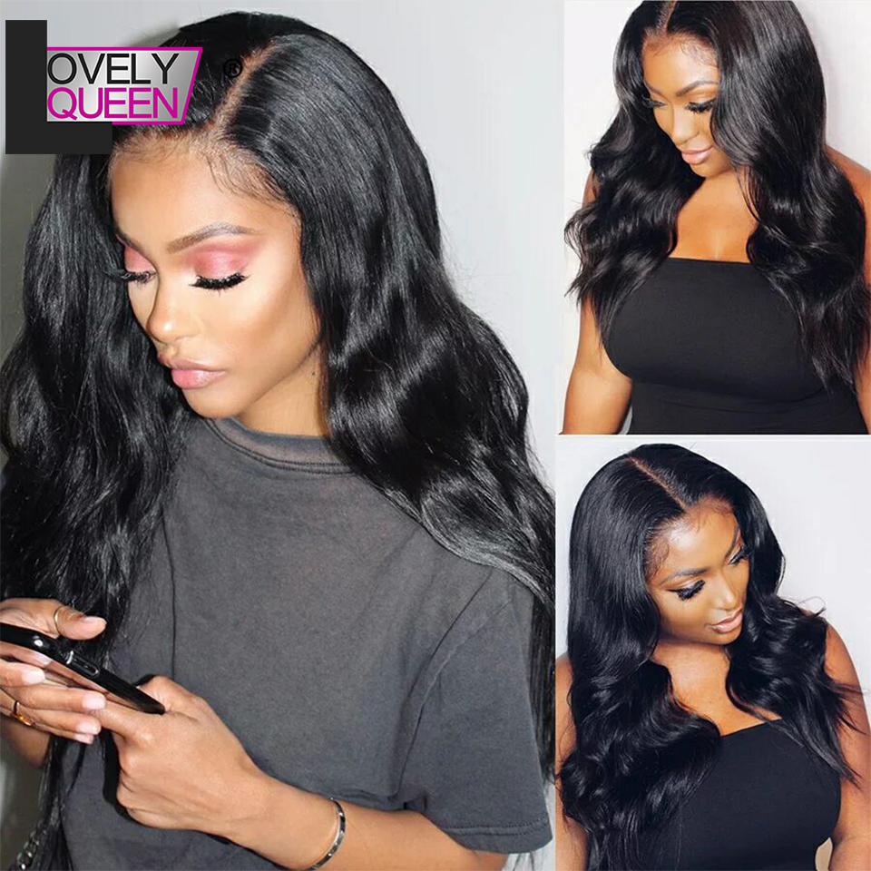 Brazilian Body Wave Lace Front Human Hair Wigs 13x4  Lace Frontal Wig  150 180 Density Remy Hair