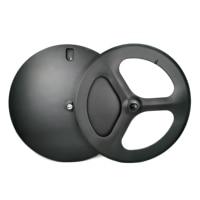 700C carbon wheels front tri spoke rear disc wheel track/road bicycle wheelset clincher/ tubular carbon wheels 3k matte finish