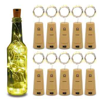 LED Wine Bottle String Lights Cork Shaped Glass Stopper Lamp Christmas DIY for New YearChristmas Valentines Wedding Decoration - DISCOUNT ITEM  31% OFF All Category