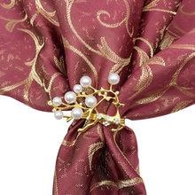 Рождественские кольца серебряный золотой сплав Пряжка для салфеток