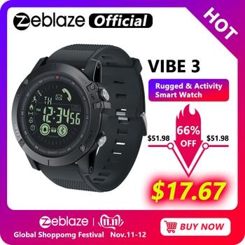 Nuovo Zeblaze VIBE 3 Flagship Robusto Smartwatch 33 mesi di Tempo di Standby 24h Monitoraggio per Tutte Le Stagioni Astuto Della Vigilanza per IOS E Android