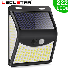 3 Mode Waterproof 222 140 LED Solar Motion Sensor Lights Outdoor Street for Garden Decor Sunlight Solar Powered Wall Lamp 1-4pcs