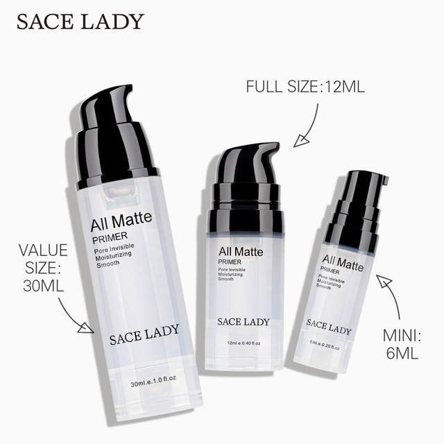 SACE LADY Face Base Primer Makeup Liquid Matte Make Up Fine Lines Oil-control Facial Cream Brighten Foundation Primer Cosmetic 1