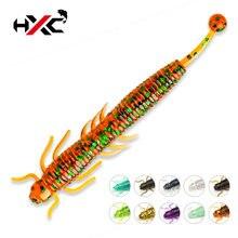 Hxc 10 шт/лот мягкая рыболовная приманка червь силиконовые приманки