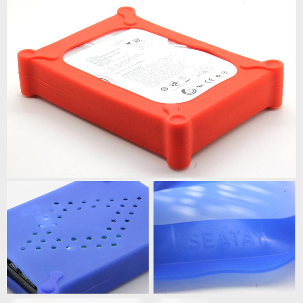 Anti-Static Silicone Shockproof 3.5inch HDD SSD Hard Drive Protective Case Cover For HDD Disk Case USB 2.0 HD External Enclosure