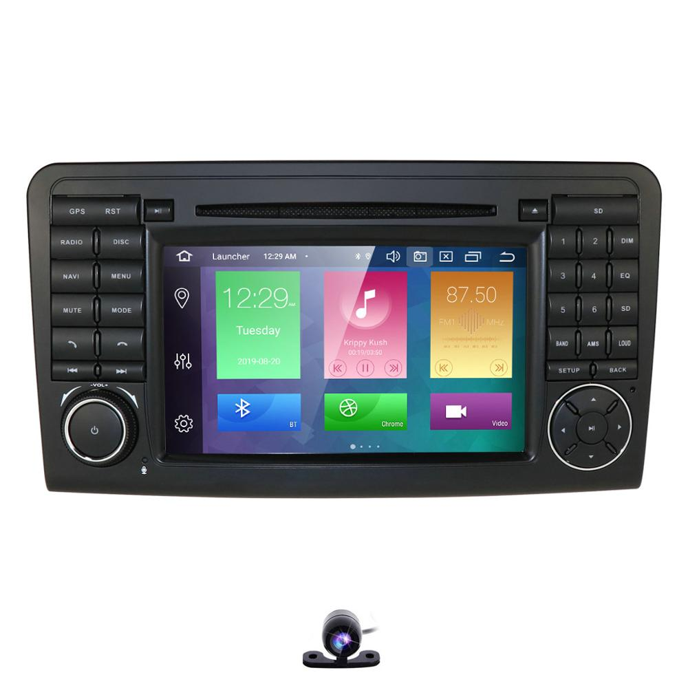 Autoradio stéréo GPS Navigation pour Mercedes Benz ML GL W164 ML300 ML350 DVD Radio SWC Bluetooth WIFI/4G Android 9.0 PX5 DSP IPS 8Core