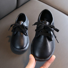 2020New Kid Shoes Childrens Student Black Leather Shoes Girl