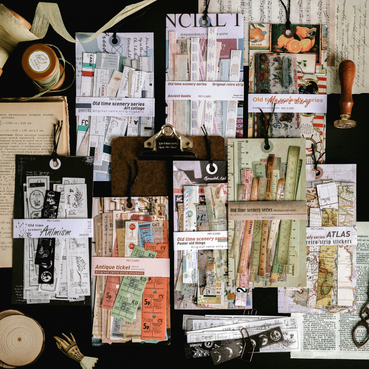 Old Time Scenery Decorative Stickers Scrapbooking Stick Label Diary Stationery Album Vintage Antique