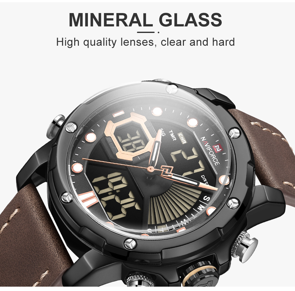 Ha9f0efece4074786abc463fee024211aq NAVIFORCE Men Watch Top Luxury Brand Fashion Sports Wristwatch
