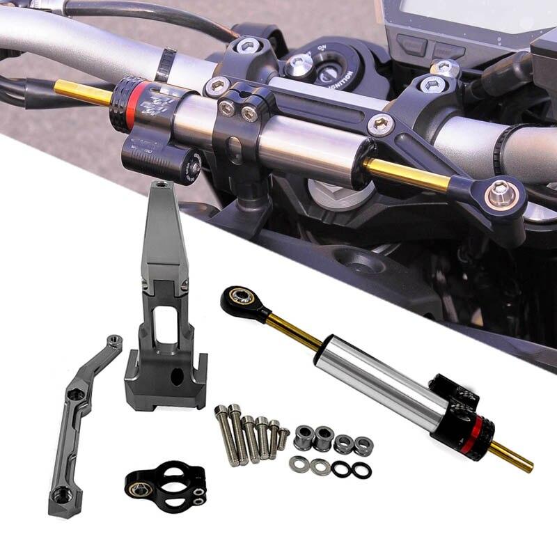 Для YAMAHA MT-09 Tracer 2015 2016 2017 2018 2019 мотоцикл рулевой демпфер стабилизатор с Монтажный кронштейн комплект MT 09 Tracer