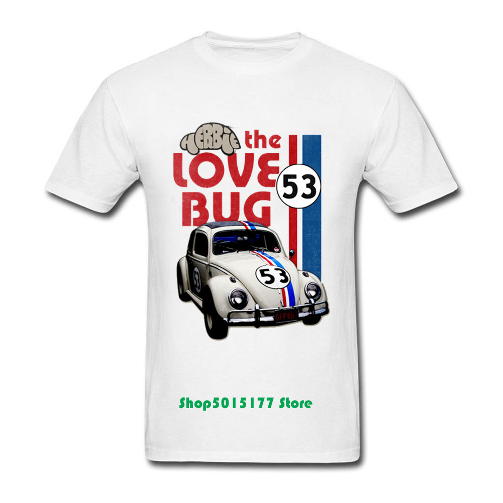 2019 Summer Men Herbie The Love bug T Shirt men Summer Casual T-shirts funny <font><b>VW</b></font> Racing car print O-neck Short Sleeve <font><b>tshirts</b></font> image