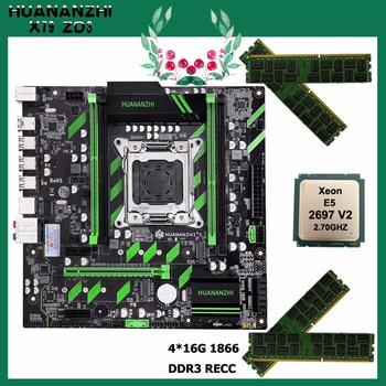 HUANANZHI X79-ZD3 motherboard with RAM 64G(4*16G) 1866 REG ECC CPU Xeon E5 2697 V2 motherboard with NVMe/NGFF dual M.2 slots