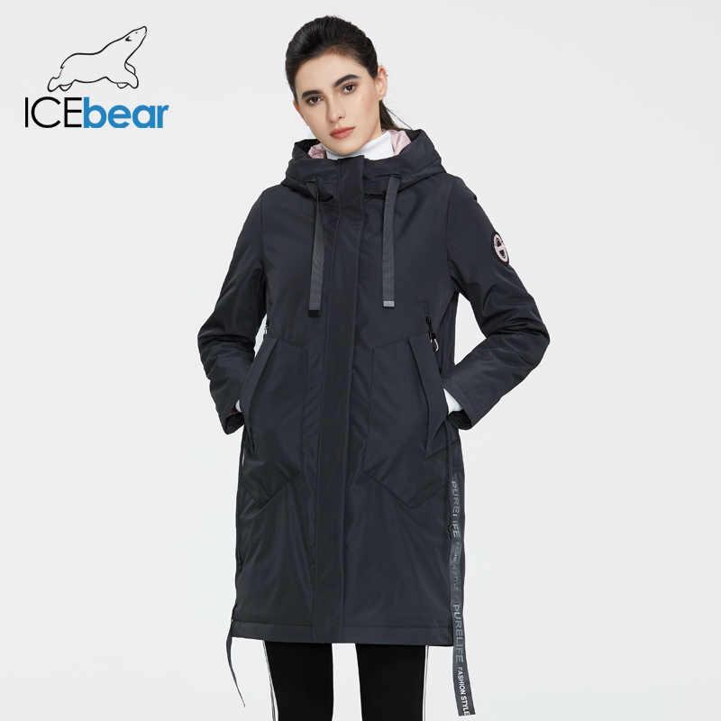 ICEbear 2020 Women جاكت للربيع معطف نسائي بقلنسوة لباس غير رسمي جودة معاطف ماركة ملابس GWC20035I