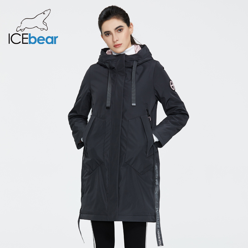 ICEbear 2020 new Autumn and winter women s coat with a hood casual wear quality fashion