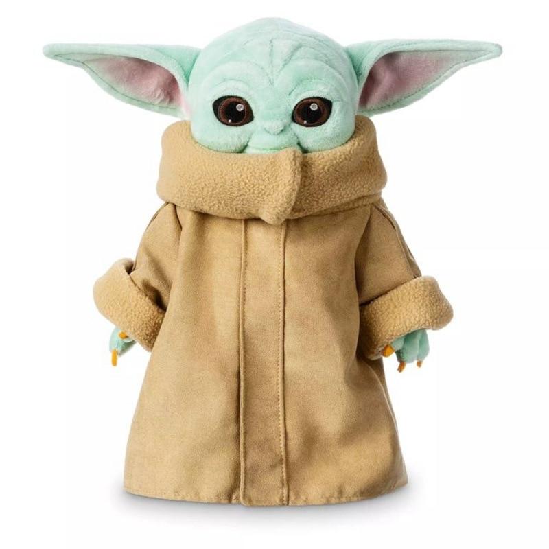 25cm/30cm Baby Yoda Plush Toys Soft Stuffed Animal Doll Keychain Pendants For Kid Birthday Gift
