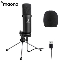 MAONO AU-A04TR USB Microphone 192kHz/24bit Professional Podcast Condenser Mic With Tripod Stand for Tiktok Youtube Vlogging