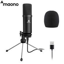 MAONO-micrófono USB AU-A04TR, condensador profesional de Podcast con soporte de trípode para Tiktok, Youtube, Vlogging, 192kHz/24 bits