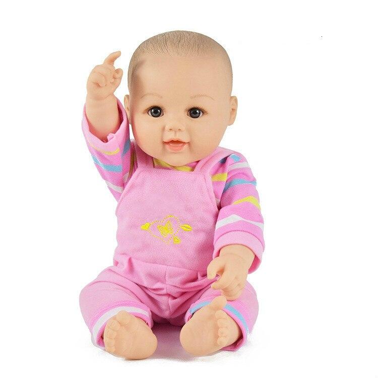 Reborn vinyle souple Simulation clignotement sommeil apaiser les jouets des premiers enfants/ménage/bébé une poupée