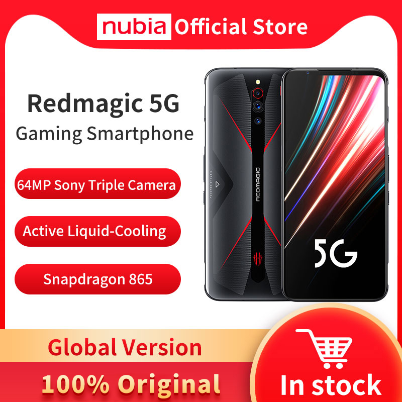 Global Version Nubia Red Magic 5G MobilePhone 6.65 inch 8/12GB RAM 128/128GB Snapdragon 865 Android 10 Gaming Phone