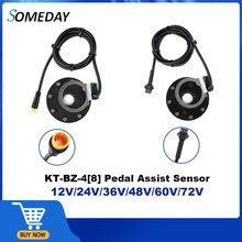 Kunteng e-bike BZ-4 (8) PAS KT 8 magnesy pedał czujnik wspomagający Ebike części SM/wodoodporne złącze do roweru elektrycznego