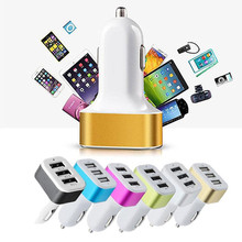 3-port mini universal 3USB car charger adapter 5V 2.1A + 1A for iPhoneXI XI R MAX 2019 smartphone Samsung xiaomi huawei