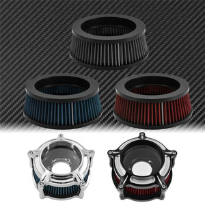 Image 4 - 1PC Motorcycle CNC Replacement Air Cleaner Intake Filter System Inner Element For Harley Sportster XL Touring Softail Dyna FXDLS