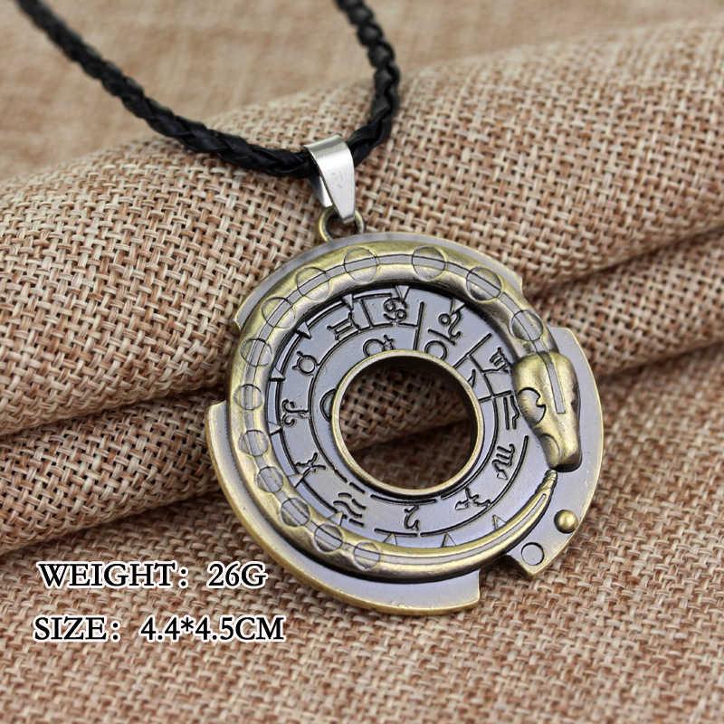 Assassins Creed Ezio Connor Cosplay Unidade de Titânio Liga De Metal Em Aço Inoxidável Pingente Colares Colares Amuleto YT21