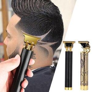Men's Hair Trimmer Clipper Professional Baldheaded Cutter Beard Shaving Precision Finishing Hair Cutting Machine Adult Kid