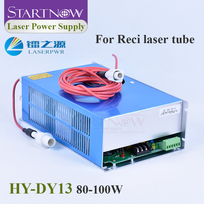 Startnow DY13 CO2 Laser Power Supply RECI W2 T2 W4 T4 90W Laser Tube 100W For 80W Laser Engraving Cutting Machine HY DY Series