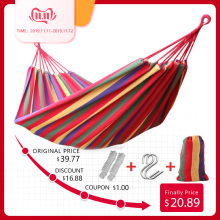 Double-Hammock Furniture Garden-Swing Cotton Hamaca Canvas Rede-De-Dormir 2-People Widen